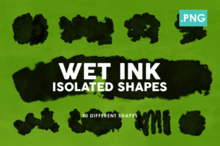 35 Wet Ink Shapes 2 Graphic By ArtistMef