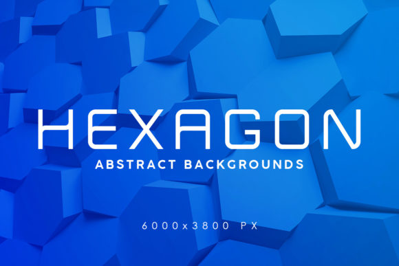 Print on Demand: 37 Hexagon Backgrounds Graphic Backgrounds By ArtistMef
