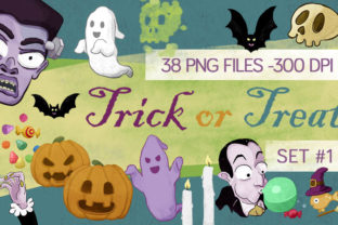 38 Halloween Clipart Cartoon Style Graphic By Milaski