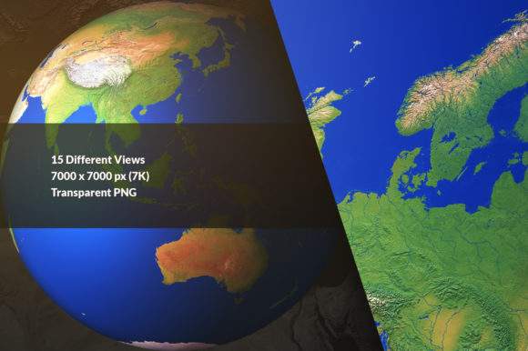 3D Earth Render Without Clouds Graphic Objects By Shemul - Image 2
