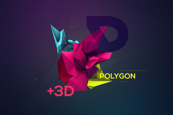 3d geometric polygon renders graphic by shemul creative - Total 3d home design free download ...