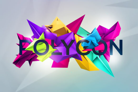 3D Geometric Polygon Renders Graphic Objects By Shemul