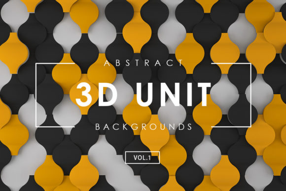 Print on Demand: 3D Unit Abstract Backgrounds 1 Graphic Backgrounds By ArtistMef