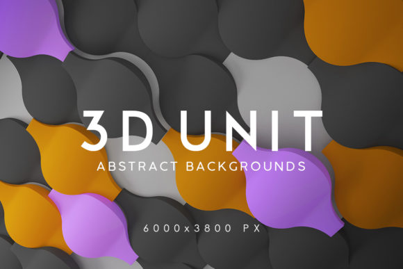 Print on Demand: 3D Unit Abstract Backgrounds 2 Graphic Backgrounds By ArtistMef