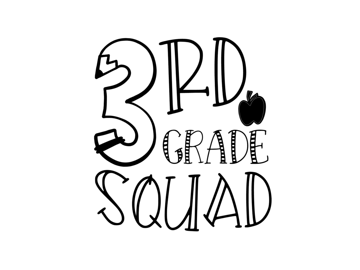 Download Free 3rd Grade Squad Graphic By Thesmallhouseshop Creative Fabrica for Cricut Explore, Silhouette and other cutting machines.