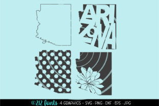 4 - Arizona State Map Graphics Graphic By 212 Fonts