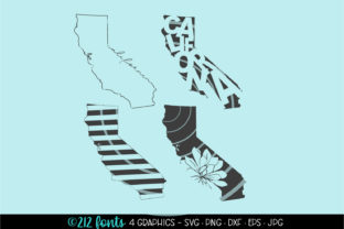4 - California State Map Graphics Graphic By 212 Fonts