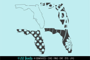 4 - Florida State Map Graphics Graphic By 212 Fonts