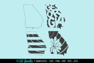 4 - Georgia State Map Outline Graphic Graphic By 212 Fonts