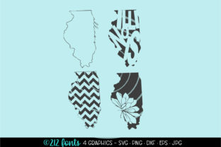 4 - Illinois State Map Graphics Graphic By 212 Fonts