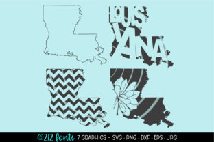 4 - Louisiana State Map Graphics Graphic By 212 Fonts