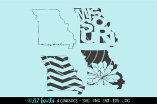 4 - Missouri State Map Graphics SVG Graphic By 212 Fonts