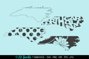 4 - North Carolina State Map Graphics Graphic By 212 Fonts