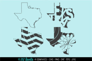4 - Texas State Map Graphics Graphic By 212 Fonts