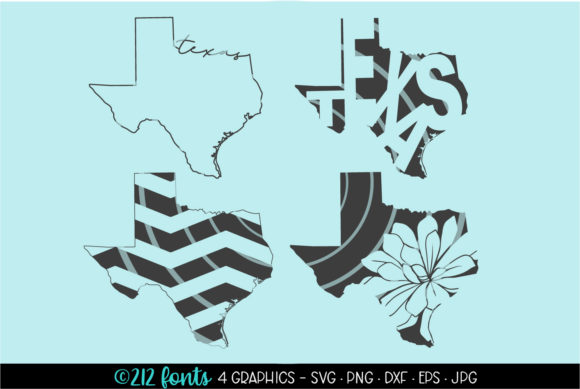 4 Texas State Map Graphics Graphic By 212 Fonts Creative Fabrica