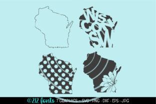 4 - Wisconsin State Map Graphics Graphic By 212 Fonts