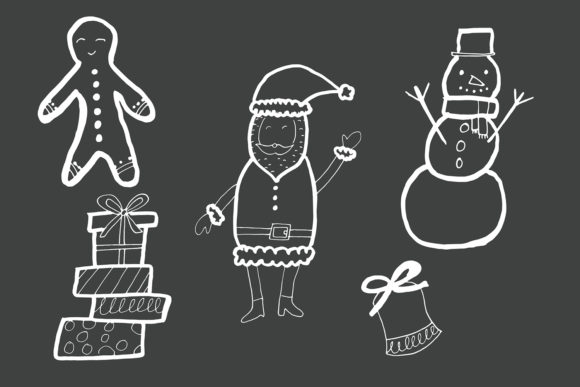 Download Free 40 Handdrawn Christmas Cliparts Graphic By Creative Tacos for Cricut Explore, Silhouette and other cutting machines.
