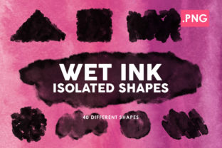 40 Wet Ink Shapes 1 Graphic By ArtistMef