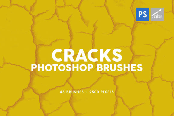 Download Free 45 Cracks Photoshop Stamp Brushes Graphic By Artistmef for Cricut Explore, Silhouette and other cutting machines.