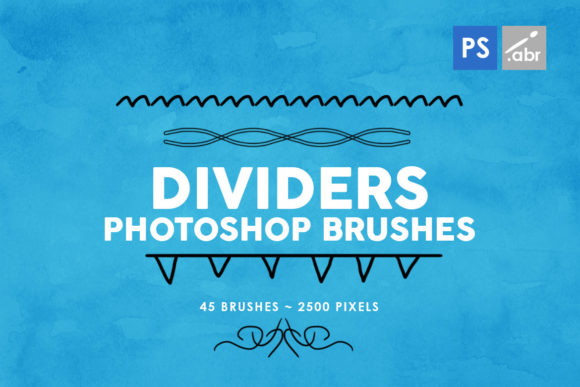 Print on Demand: 45 Dividers Photoshop Brushes Vol. 2 Graphic Brushes By ArtistMef