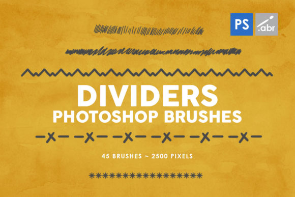 Print on Demand: 45 Dividers Photoshop Stamp Brushes 1 Graphic Brushes By ArtistMef