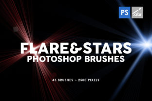 Download Free 45 Lens Flares Stars Photoshop Brushes Graphic By Artistmef for Cricut Explore, Silhouette and other cutting machines.