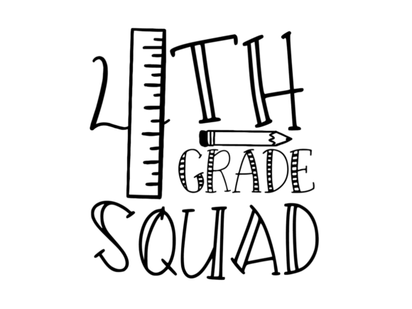 Download Free 4th Grade Squad Svg Graphic By Thesmallhouseshop Creative Fabrica for Cricut Explore, Silhouette and other cutting machines.