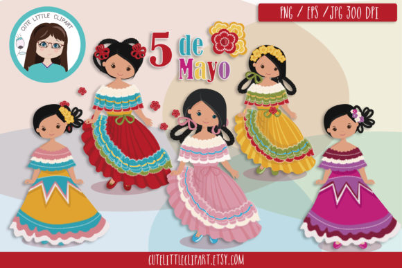 Download Free 5 De Mayo Girls Cliparts Grafico Por Cutelittleclipart for Cricut Explore, Silhouette and other cutting machines.