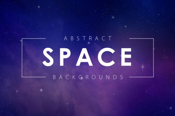 Print on Demand: 5 Space Backgrounds Graphic Backgrounds By ArtistMef