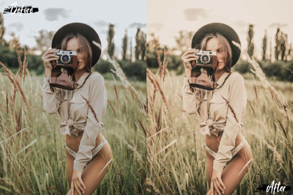 5 Vintage Skin Actions, ACR & LUT Preset Graphic by