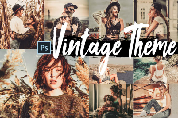 Print on Demand: 5 Vintage Skin Actions, ACR & LUT Preset Graphic Actions & Presets By 3Motional