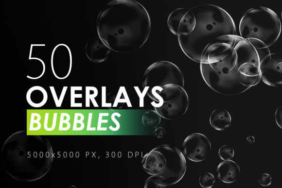 Print on Demand: 50 Bubble Overlays Graphic Textures By ArtistMef