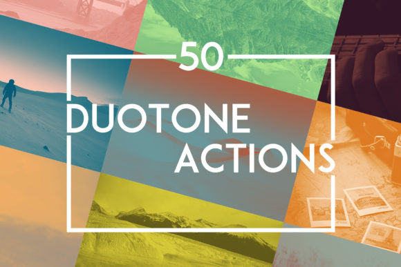 Print on Demand: 50 Duotone Actions Graphic Actions & Presets By freezerondigital