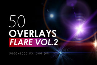 50 Flare & Stars Overlays Volume 2 Graphic By ArtistMef