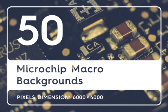 50 Microchip Macro Backgrounds Graphic By Textures