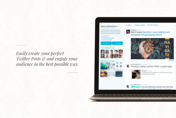 50 Twitter Dropshipping Graphics Graphic Web Elements By Web Donut - Image 3