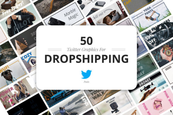 50 Twitter Dropshipping Graphics Graphic Web Elements By Web Donut