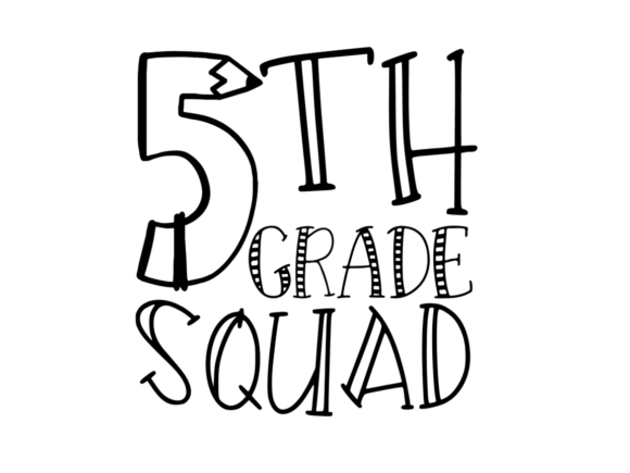 Download Free 5th Grade Squad Svg Graphic By Thesmallhouseshop Creative Fabrica for Cricut Explore, Silhouette and other cutting machines.