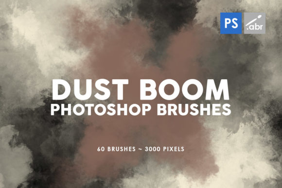 Print on Demand: 60 Dust Boom Photoshop Brushes Graphic Brushes By ArtistMef