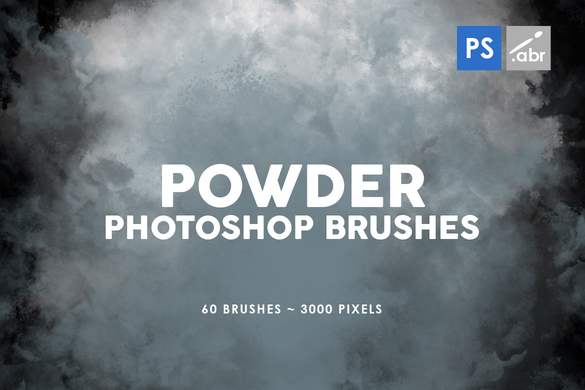 Download Free 60 Powder Photoshop Stamp Brushes Graphic By Artistmef for Cricut Explore, Silhouette and other cutting machines.