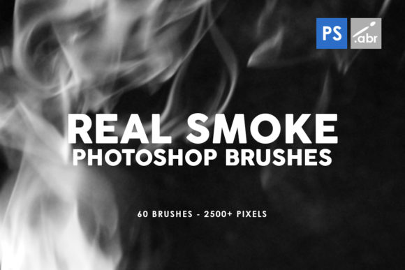 Print on Demand: 60 Real Smoke Photoshop Stamp Brushes Graphic Brushes By ArtistMef