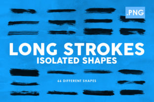 66 Long Strokes PNG Ink Shapes Graphic By ArtistMef