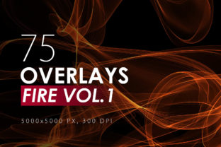 75 Abstract Fire Overlays Vol. 1 Graphic By ArtistMef