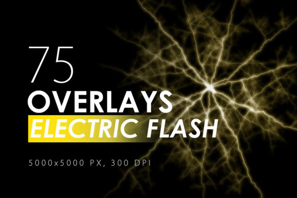 Print on Demand: 75 Electric Flash Overlays Graphic Textures By ArtistMef