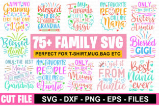 Download Free 75 Funny Family Svg Mega Bundle Graphic By Graphicsqueen for Cricut Explore, Silhouette and other cutting machines.