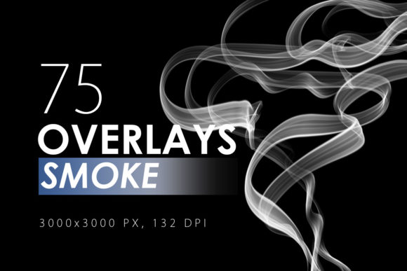 Print on Demand: 75 Smoke Overlays Graphic Textures By ArtistMef