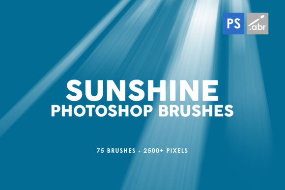 Print on Demand: 75 Sunshine Photoshop Stamp Brushes Graphic Brushes By ArtistMef