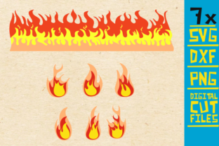 7x Fire Bundle Flames Vector Graphic By Svgyeahyouknowme