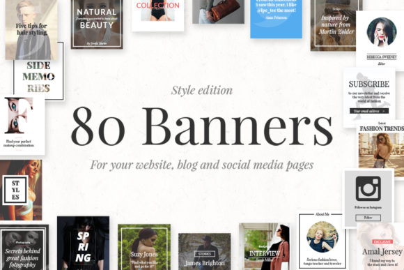 80 Banners Style Edition Graphic Web Elements By Web Donut