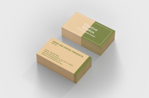 Print on Demand: A Clean Business Card Template Graphic Print Templates By denestudios